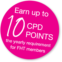 Earn up to 10 CPD points - the yearly requirement for FHT members